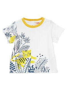 Tee Shirt Manches Courtes Ecru JUTROTI1 / 20SG10F2TMC001