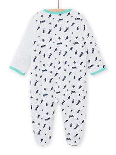 Grenouillère gris chiné motif chat bébé garçon MEGAGRECHA / 21WH1495GREJ920