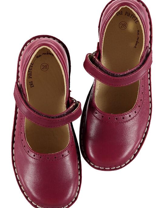 Babies cuir lie de vin  enfant fille GFBABPERFL / 19WK35E1D13719