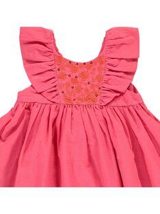 Robe manches courtes bébé fille CIFRIROB2 / 18SG09H1ROBD312