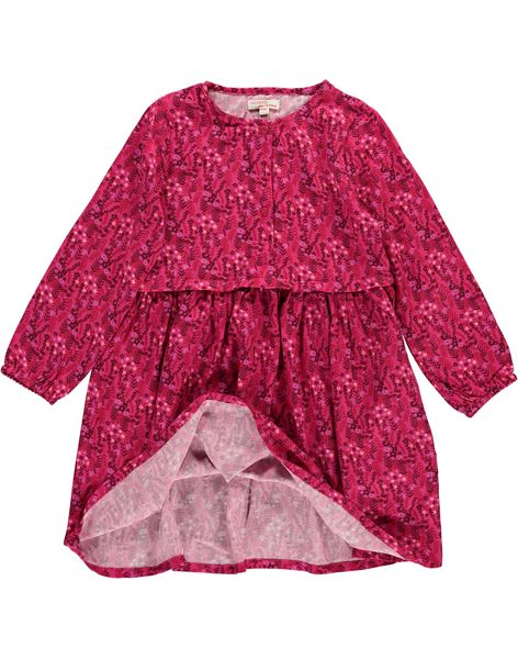 Robe manches longues fluide fille DAROBE6 / 18W90186ROB099