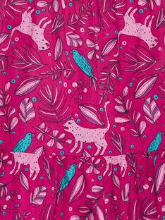 Robe à brtelle volantée, imprimé végétal et animalier JAJOSROB5 / 20S901T4ROBD320