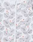 Grenouillère blanche manches longues imprimé feuilles LOU1GRE1 / 21SF03H1GRE000