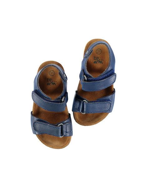 Sandale ville cuir bébé garçon FBGNUBLUE / 19SK38D3D0EC218