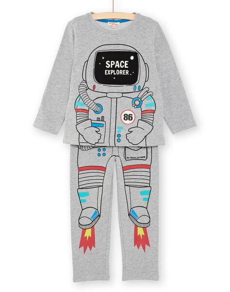 Pyjama enfant garçon motif astronaute  KEGOPYJAST / 20WH12B5PYJJ922