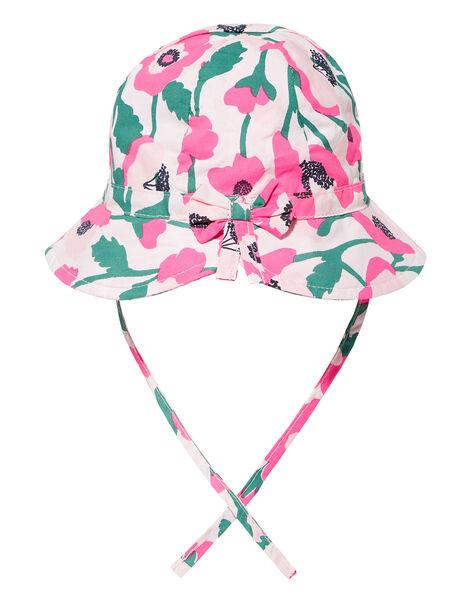 Chapeau bébé fille à fleurs rose JYIPOECHAP2 / 20SI09G2CHA301