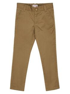 Pantalon chino uni beige garçon JOJAPANT2 / 20S902B2PANI819