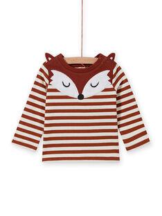 T-shirt à rayures et motif renard bébé garçon MUSAUTEE1 / 21WG10P1TMLI803