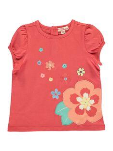 Tee-shirt manches courtes bébé fille CIBUTI3 / 18SG09K3TMCF515