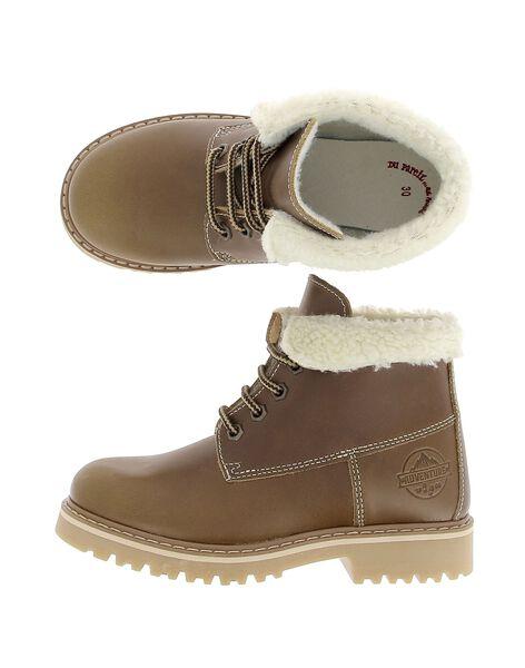 Boots fourrée en cuir garçon DGBOOTNIA / 18WK36T4D0D804