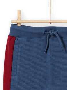 Jogging bleu à empiècements enfant garçon MOPAJOG / 21W902H1JGB219