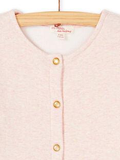 Cardigan rose chiné fourré et à paillette doré KAJOCARM3 / 20W90154D3CD314