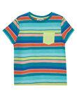 T-shirt manches courtes à rayures enfant garçon JOMARTI4 / 20S902P4TMCC242