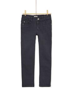 Pantalon droit jaune enfant garçon KOJOPATWI4 / 20W90232D2BJ900