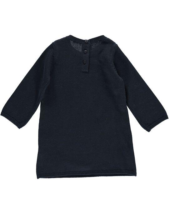 Robe en maille de coton bébé fille DINAUROB1 / 18WG09G1ROB705