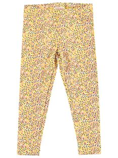 Legging fille jaune avec poids multicolor JYATROLEG1 / 20SI01F1CALB102