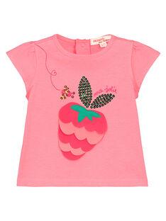 Tee Shirt Manches Courtes Rose FIYETI / 19SG09M1TMC309