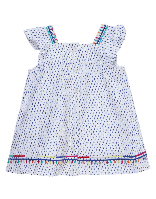 Ensemble robe et bloomer en jersey bébé fille JIMARENS1 / 20SG09P1ENS000