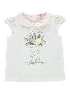 Tee-shirt manches courtes bébé fille CICEBRA / 18SG09M1BRAA001