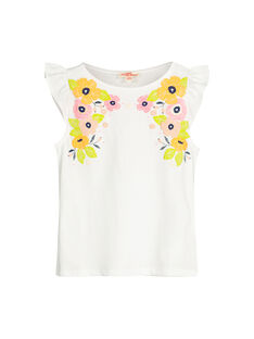 Tee-shirt en coton fille FAPOTI2 / 19S901C2TML000