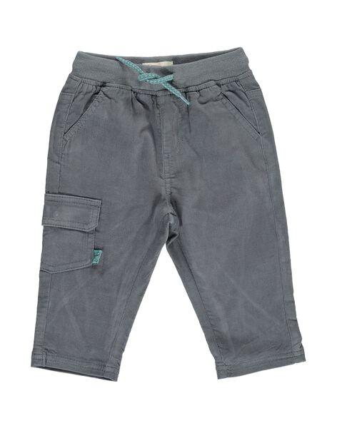 Pantalon en velours gris bébé garçon DUJOPAN9 / 18WG10J3PAN929