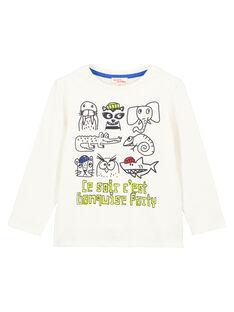 Tshirt Manches longues ecru animé GOBLATEE3 / 19W902S1TML001