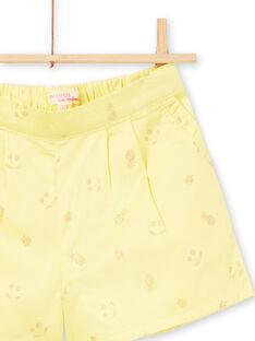Short jaune imprimé fruits à paillettes LAJAUSHORT / 21S901O1SHO116