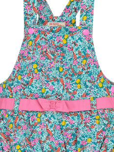 Robe salopette fleurie bébé fille FICUROB3 / 19SG09N3ROB202