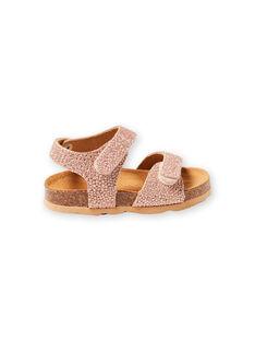 Sandales doré rose bébé fille LBFNUGOLD / 21KK3757D0EK009