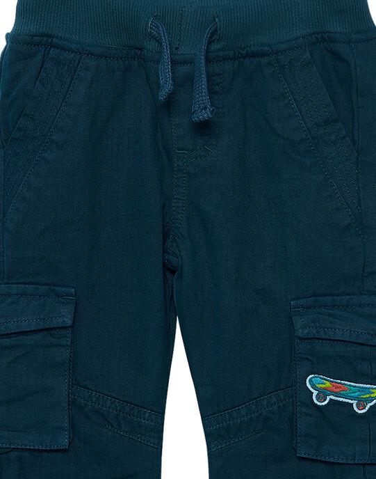 Pantalon garçon élastiqué cargo bleu foncé JOCLOPAN2 / 20S90212PAN715