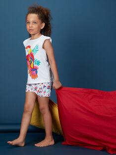 Pyjama court enfant fille imprimé perroquet KEFAPYJNEP / 20WH11I5PYJ000