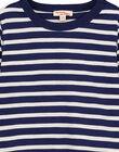 T-shirt Manches longues Marine rayé ecru GOJOTIRIB2 / 19W90244D32070