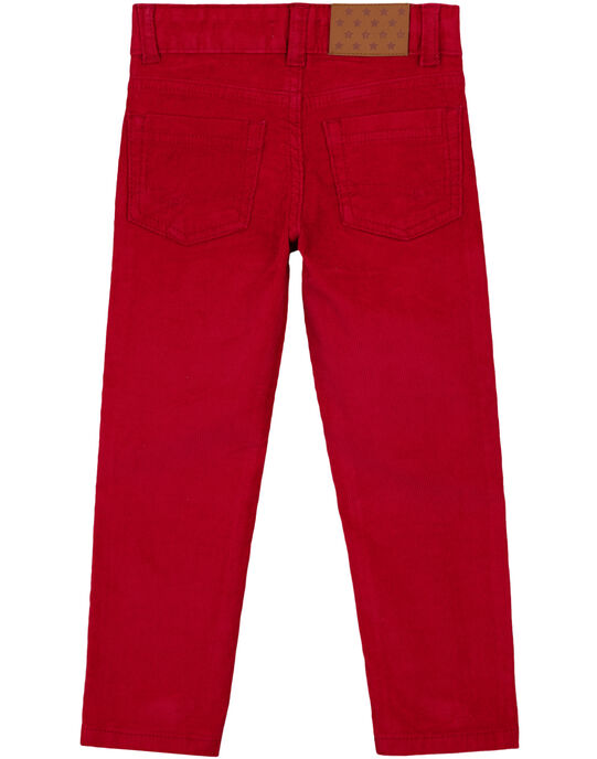 Pantalon En velours Rouge Regular GOJOPAVEL4 / 19W90233D2BF508