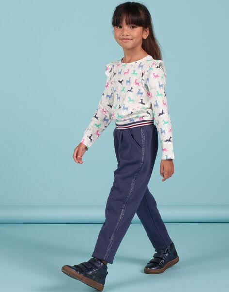 Pantalon doublé bleu enfant fille MAPLAPANT2 / 21W901O2PANC202