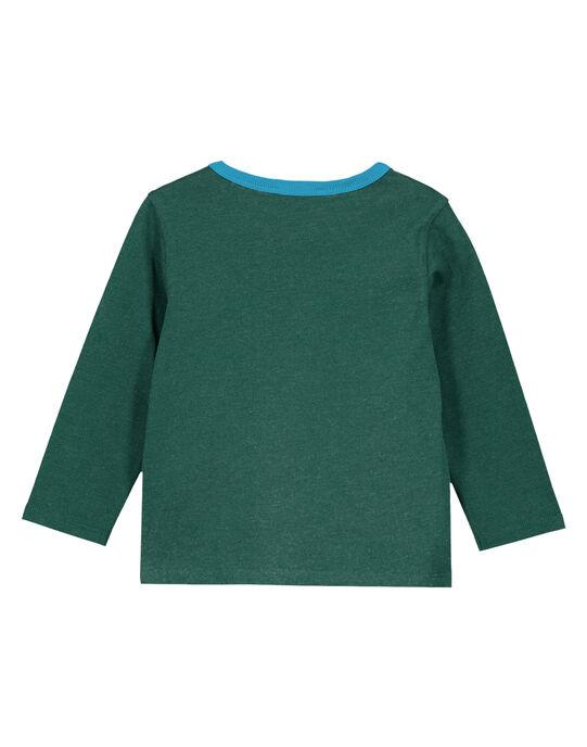 Tshirt Manches Longues Vert Fonce Chiné GOTUTEE3 / 19W902Q1TMLG620