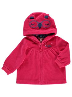 Gilet zippé en velours bébé fille DITRIHOJOG / 18WG09D1JGH308