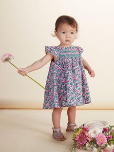 Robe et bloomer imprimés bébé fille JIPOEROB3 / 20SG09G3ROB000