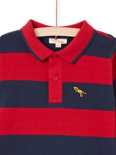 Polo rouge et bleu marine à rayures enfant garçon MOJOPOL6 / 21W90212POL505