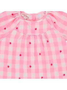 Blouse à carreaux bébé fille CIHOCHEM / 18SG09E1CHE099