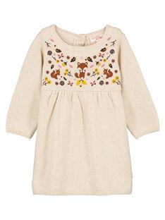 Robe pull bébé fille GIJAUROB1 / 19WG09H3ROB001