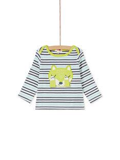Tee-shirt manches longues rayé bébé garçon  KUBOTEE2 / 20WG10N1TML001