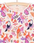 T-shirt manches longues motifs oiseau colorés enfant fille MAPATEE / 21W901H1TMLD319