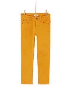 Pantalon droit jaune enfant garçon KOJOPATWI2 / 20W90239D2B107