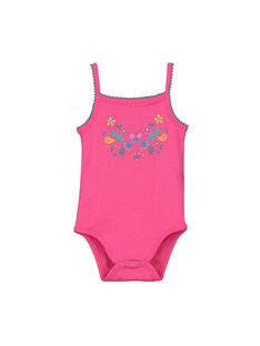 Body à bretelles bébé fille FEFIBODECO / 19SH13I2BDL330