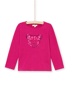 T-shirt rose foncé enfant fille MAJOYTEE7 / 21W90123TMLD312