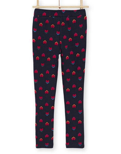 Pantalon fourré et imprimé coeurs KALUPANT2 / 20W901P2PANC205