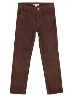 Pantalon En velours Cacao Regular GOJOPAVEL6 / 19W902L1D2B816