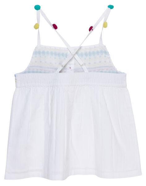 Débardeur blanc à bretelles brodé enfant fille JAMARCHEM / 20S901P1CHE000