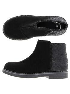 Boots en cuir fille DFBOOTSO / 18WK35T8D0D090