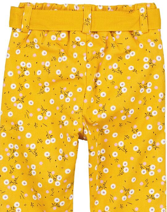 Pantalon imprimé bébé fille  GIJAUPAN / 19WG09H1PANB107